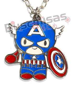 CAP-02 - Colar Chibi Capitao America