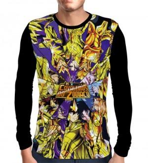 Camisa Manga Longa Golden Saints - Saint Seiya - Cavaleiros do Zodiaco