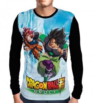 Camisa Manga Longa Broly Vs Goku - Dragon Ball Super