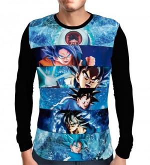 Camisa Manga Longa Goku Eras - Dragon Ball Super
