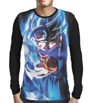 Camisa Manga Longa Vegetto Instinto Superior - Dragon Ball Super