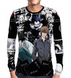 Camisa Manga Longa Print Mangá Death Note