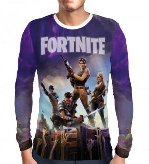 Camisa Manga Longa Fortnite - Roxa