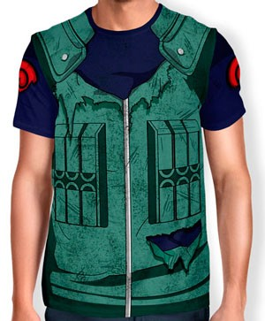Camisa Full Print Uniforme - Kakashi Hatake Modelo 1 - Naruto