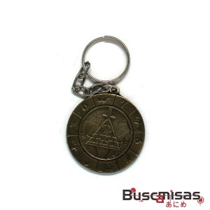 Chaveiro Gravity Falls - Medalha Zodiaco Bill Cipher