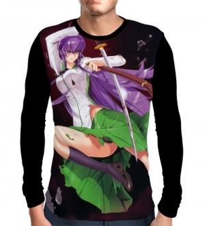 Camisa Manga Longa Saeko - High School Of The Dead