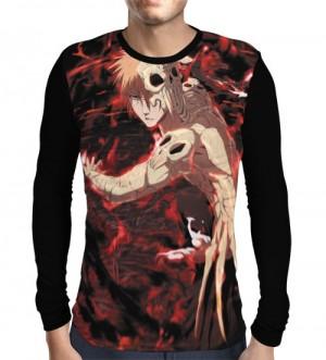 Camisa Manga Longa Skull Ichigo - Bleach