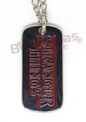 STH-01 - Colar Dog Tag Stranger Things