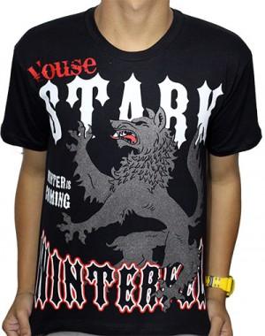 Camisa Stark Preta - Game of Thrones