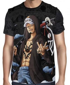 Camisa Dark Mangá Law Novo Mundo - One Piece - Full Print