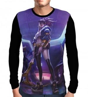 Camisa Manga Longa Akali K/DA - League Of Legends
