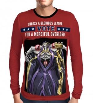 Camisa Manga Longa Print -Vote Leader - Overlord