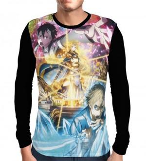 Camisa Manga Longa Eugeo - Alice - Kirito - SWORD ART ONLINE: Aliciazation