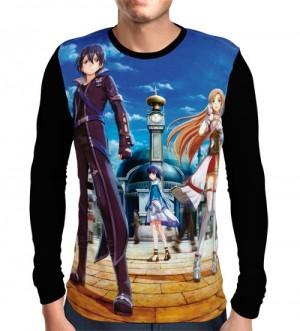 Camisa Manga Longa Hollow Realization - Kirito - Asuna - Sword Art Online