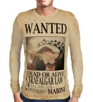 Camisa Manga Longa Print WANTED Trafalgar Law V2 - ONE PIECE
