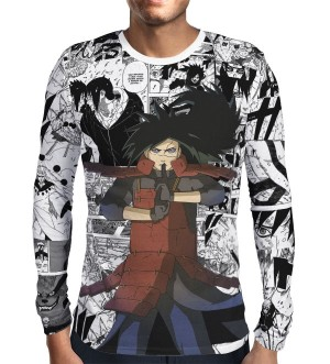 Camisa Manga Longa Print Manga Madara Mod 02 - Naruto