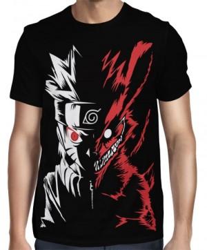 Camisa Naruto - Naruto Modo Kyuubi