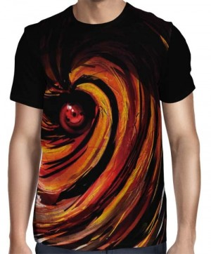 Camisa FULL Tobi - Obito - Sharingan - Naruto