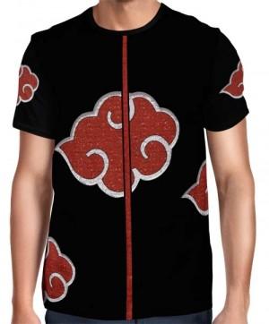 Camisa Full Print Uniforme Akatsuki Mod. 02 - Itachi Pain Deidara Tobi