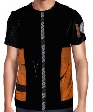 Camisa Full Print Colete Roupa Uniforme Cosplay Naruto Modelo 2