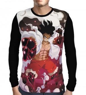 Camisa Manga Longa  Luffy Haki Powers- One Piece