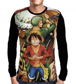 Camisa Manga Longa Zoro - Law - Luffy - One Piece