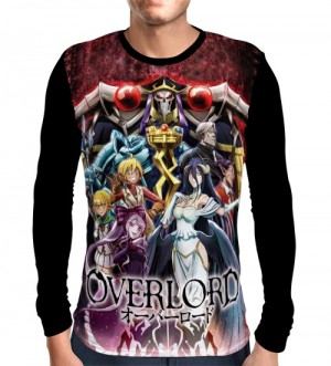 Camisa Manga Longa Red Eyes Skull - Overlord