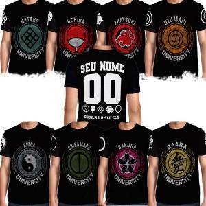 Camisa Full PRINT University - Personalizada - Naruto