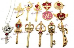 KIT-SLM-01 - 12 Pingentes Sailor Moon + 1 Colar + BRINDE