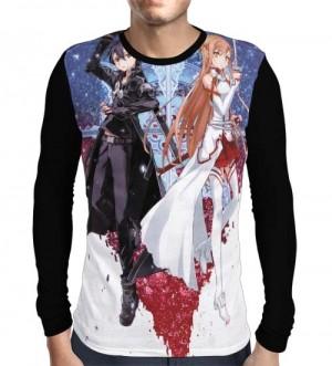 Camisa Manga Longa Creations - Kirito - Asuna - Sword Art Online