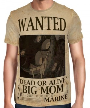 Camisa Full Print Wanted Big Mom Charlotte Linlin Com Recompensa - One Piece