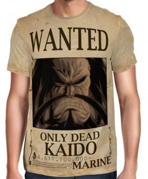 Camisa Full Print Wanted Kaido Com Recompensa - One Piece